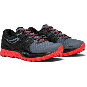 saucony Xodus ISO 2 Shoes Women Grey/Black/Vizipro Red